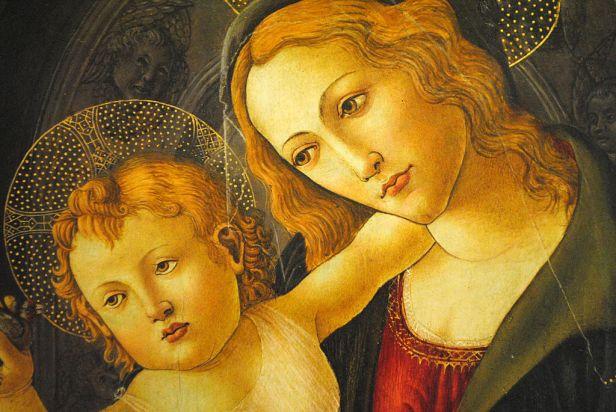 La Virgen y el Niño en un nicho, Sandro Botticelli y taller 04