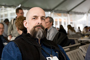 U.S. novelist Neal Stephenson at Science Foo C...
