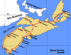 Truro is located in Nova Scotia