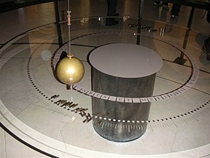 The Foucault pendulum at the Musée des arts et...