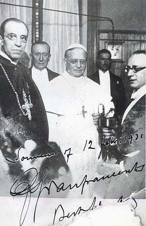 (pt)Papa Pio XI na inauguração da radio Vatica...