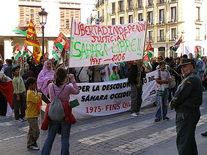 A POLISARIO demonstration for the independence...