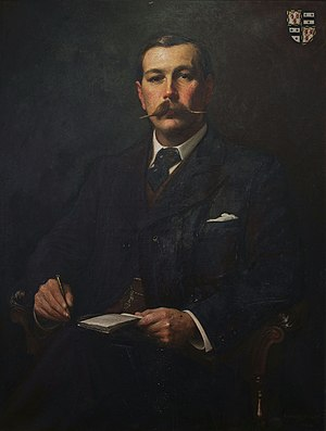 English: Portrait of Arthur conan doyle by Sid...