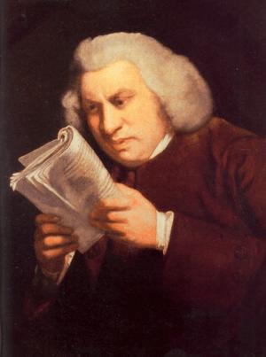 A portrait of Samuel Johnson by Joshua Reynold...
