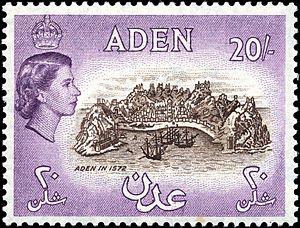 Stamp Aden 1953 20sh