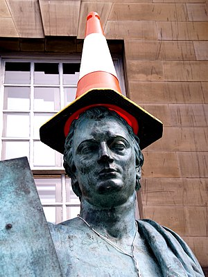 Statue of Hume. Edinburgh. May 2006.