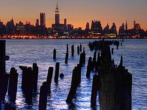 Midtown Manhattan from Liberty Harbor in Weeha...