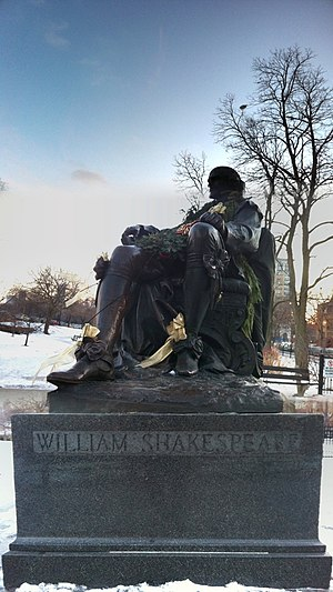 English: William Shakespeare statue in Lincoln...