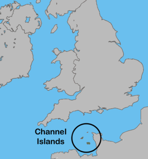 English: Location of the Channel Islands