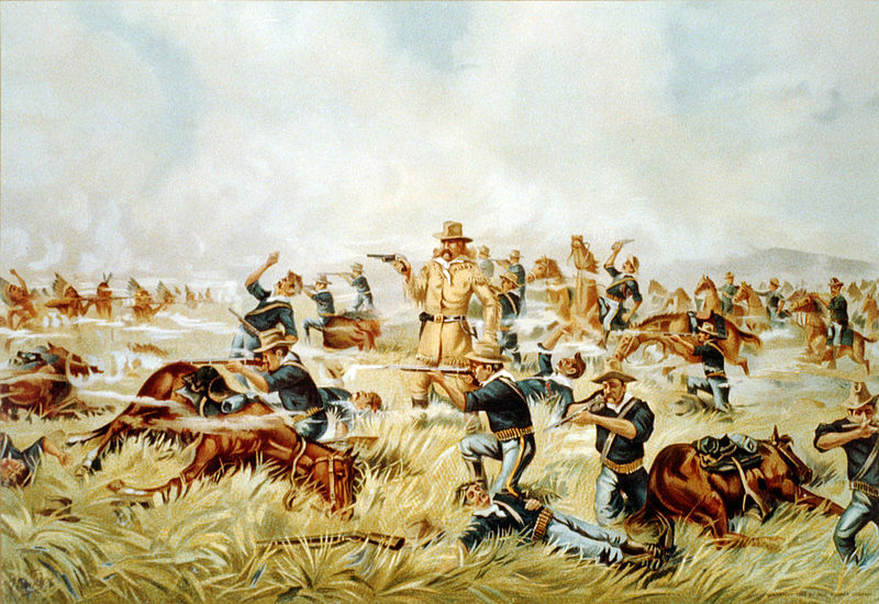 Battle of Little Bighorn. The defeat of Custer, June 25, 1876.