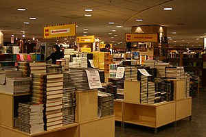 English: The day before the Swedish book sale ...