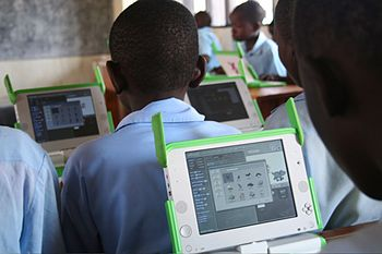 English: One Laptop per Child at Kagugu Primar...