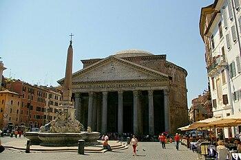Deutsch: Rom, Pantheon mit Vorplatz inklusive ...