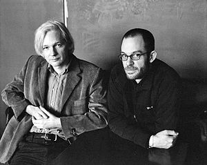 English: Julian Assange and Daniel Domscheit-B...