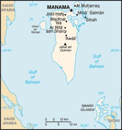Bản đồ Bahrain