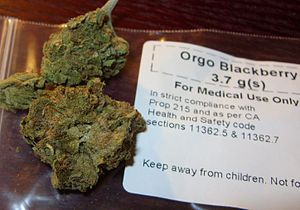 English: Organic cannabis Indica purchased fro...