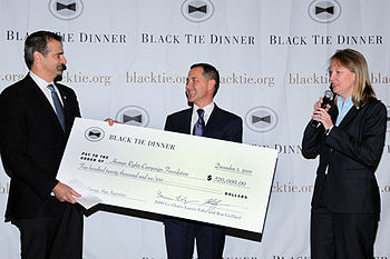 English: 2009 Black Tie Dinner Distribution - ...