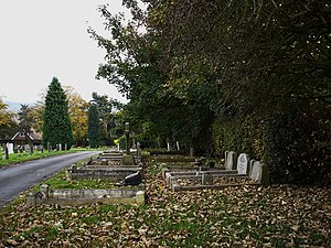 English: Chilwell Cemetery This felt a particu...