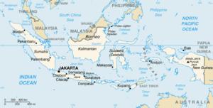 Mapa  República da Indonésia