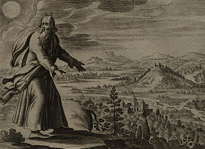 Moses Views the Promised Land, engraving by Ge...