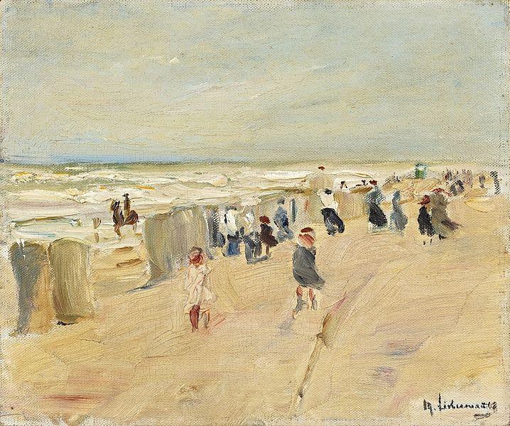 File:Max Liebermann - Strand in Nordwijk bei Sturm.jpg