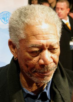 Freeman at premiere of The Bucket List in Berl...