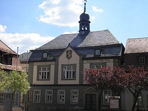Das Rathaus in Bad Blankenburg (Thüringen)