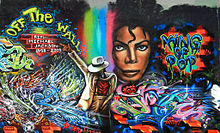 michael jackson graffiti in santa cruz