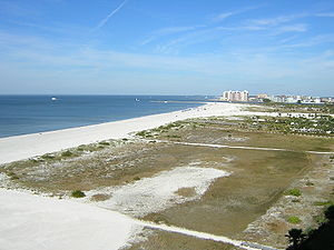 View north from Sand Key toward Clearwater Beach
