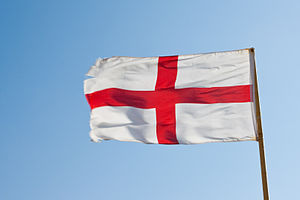 St George's Cross - the flag of England.