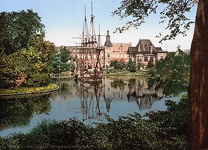 The Tivoli park, Copenhagen, Denmark