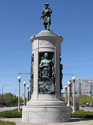 English: Victory Monument at Chicago, USA. Fra...