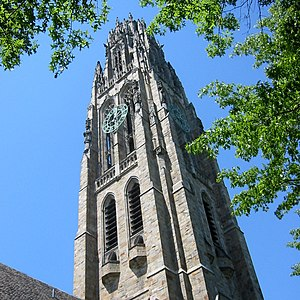 Harkness Tower, situated in the Memorial Quadr...