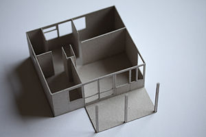 English: Maquette (1:100) of a vacation house ...