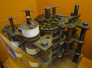 Part of Charles Babbage's Difference Engine in...