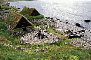 Ósvör, a replica of an old fishing outpost out...