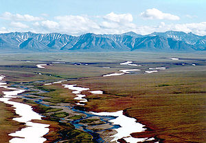 Area of the Arctic National Wildlife Refuge co...