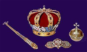 crown jewels of Serbia, with Karađorđević crown