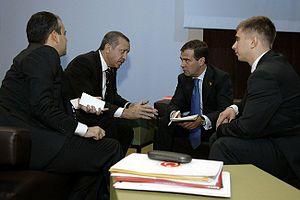 English: G-20 summit in Pittsburgh. Turkish Pr...