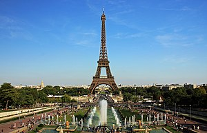 English: Eiffel Tower and Jardins du Trocadéro...
