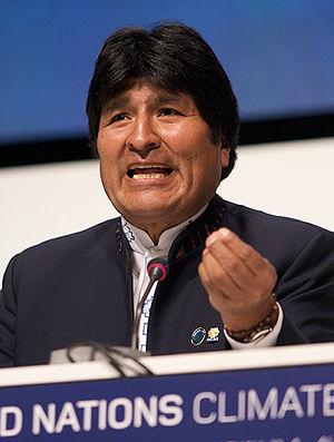 English: President of Bolivia, Evo Morales, De...