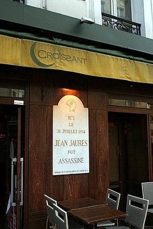 Plaque commemorative de l'assassinat de Jean J...