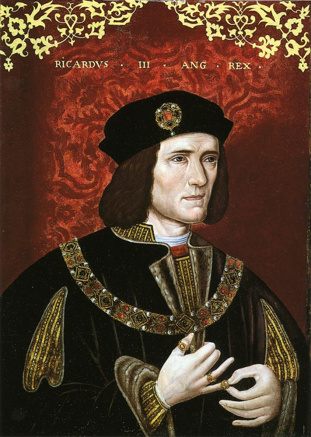 Portrait of King Richard III. Artist unknown. Photograph Credit : National Portrait Gallery, London, UK.