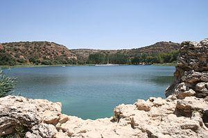 View of La Salvadora lake, one of the Lagunas ...