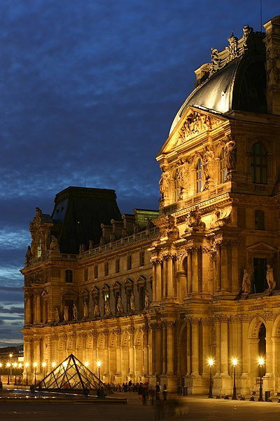 Louvre Museum in Nighttime