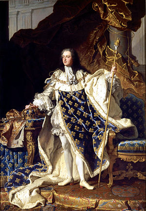 Louis XV, by Hyacinthe Rigaud, 1730 (Château d...