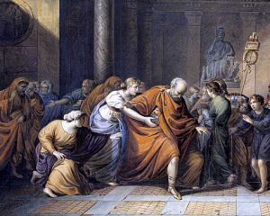 Marcus Atilius Regulus leaves for Carthage, re...