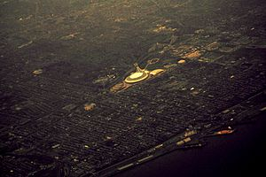 Montreal Olympic Stadium From Sky