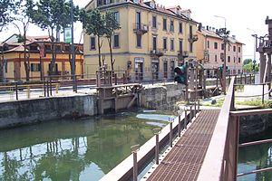 """Italiano: Milano. La """"Conca Fallata = Sba..."""