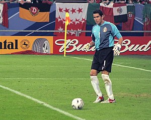 Oswaldo Sanchez during a game with the Mexican...